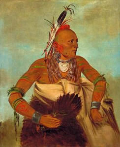 George Caitlin's Osage Warrior