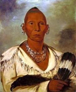 Painting of Black Hawk by George Catlin, 1832