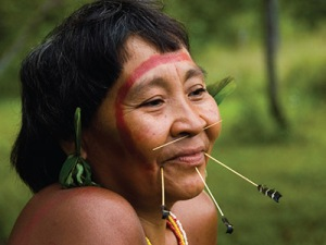 A member of the indigenous Yanomami