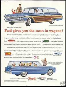 When a large family meant a Ford station wagon