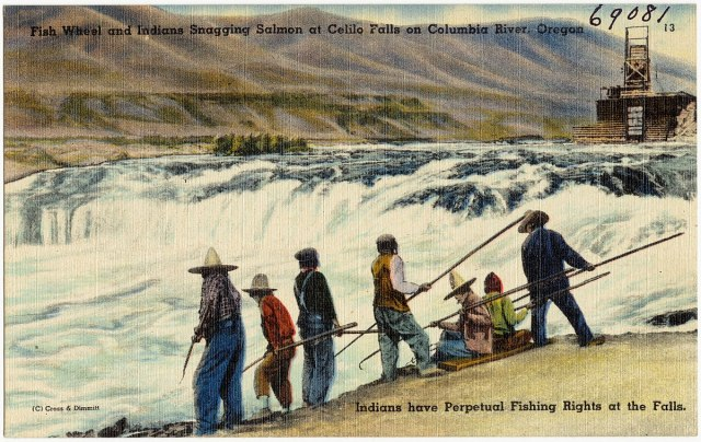 1200px-Fish_Wheel_and_Indian_Snagging_Salmon_at_Celilo_Falls_on_Columbia_River,_Oregon._Indians_have_perpetual_fishing_rights_at_the_falls_(69081)