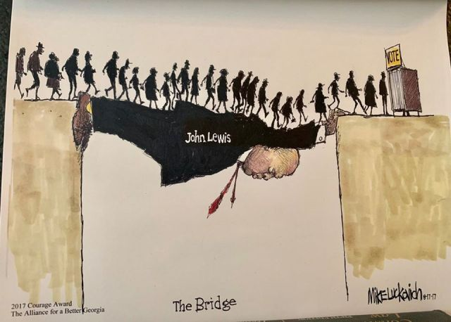 """The Bridge,"" by Mike Luckovich (copyrighted)"